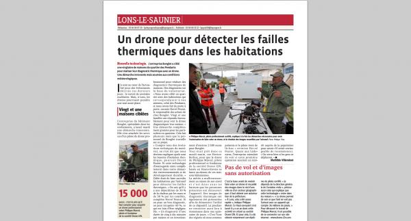Un drone pour détecter les failles thermiques dans les habitations