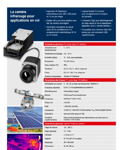 Caméra thermographie photovoltaïque
